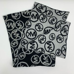 Michael Kors black and gray knit scarf